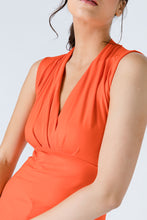 Load image into Gallery viewer, V Neck Sleeveless Orange Top