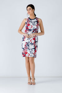 Floral Sleeveless Dress by Conquista Fashion