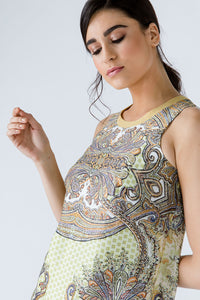 Paisley Sleeveless Dress