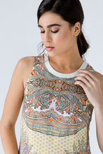 Load image into Gallery viewer, Turquoise Paisley Sleeveless Dress