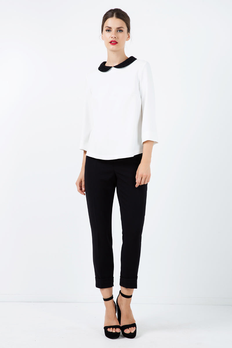 Black Pocket Detail Trousers