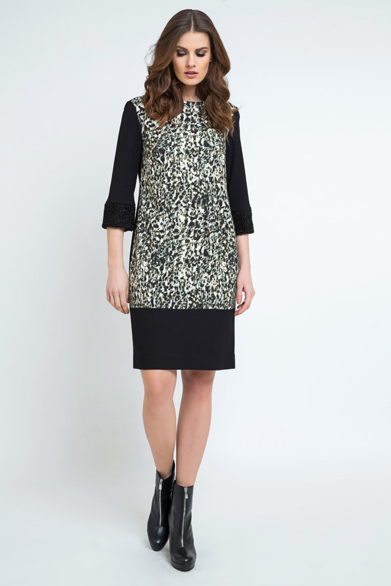 Straight Animal Print Dress