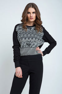 Black and White Jumper