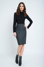 Load image into Gallery viewer, Elegant Stripes Sheath Pencil Skirt