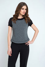 Load image into Gallery viewer, Short Sleeve Top with Rounded Hem