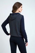Load image into Gallery viewer, Hooded Striped Zip Jacket