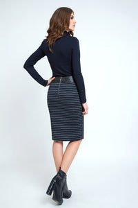 Midi Pencil Skirt Stripped