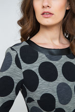 Load image into Gallery viewer, Fitted Polka Dot Midi Dress