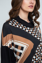 Load image into Gallery viewer, Geometric Print Batwing Top