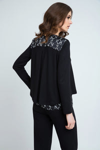 Cardigan With Pattern Detail