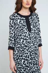 Animal Print Sack Dress