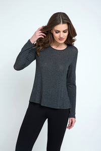 Dark Grey Fine Knit Top Fine Knit Top