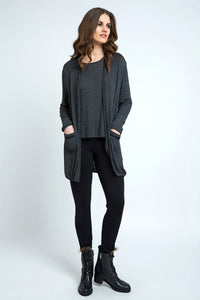 Long Sleeve Fine Knit Cardigan