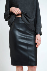 Pleather Pencil Skirt