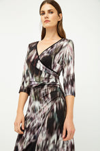 Load image into Gallery viewer, Print Jersey Faux Wrap Dress