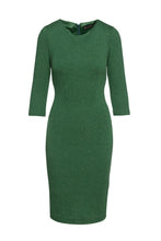 Load image into Gallery viewer, Green Fitted Knit Dress