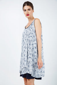 Loose Fit Floral Layer Dress