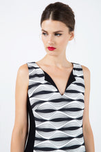 Load image into Gallery viewer, Black and White Sleeveless Dress