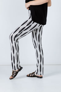 Black and White Stretch Pants