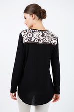 Load image into Gallery viewer, Long Sleeve Print Top with Trim Detail