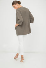 Load image into Gallery viewer, Open Front Khaki Cardigan