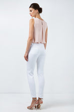 Load image into Gallery viewer, Long Fitted Gabardine Pants in White
