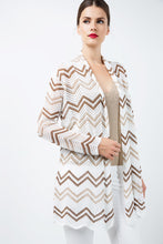 Load image into Gallery viewer, Zig Zag Open Front  Cardigan