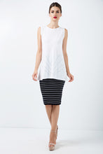 Load image into Gallery viewer, Fitted Striped Skirt