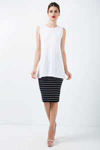 Fitted Striped Skirt
