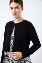 Load image into Gallery viewer, Zigzag Black Knit Cardigan