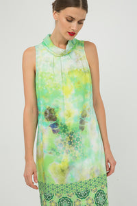 Straight Sleeveless Print Dress by Conquista