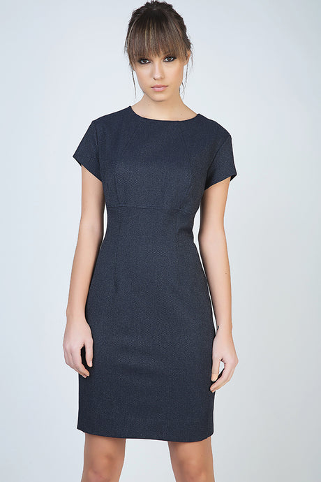 Tailored Short Sleeve Dress