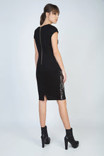 Load image into Gallery viewer, Print Cap Sleeve Dress with Waistband