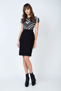 Stripe Detail Straight Dress