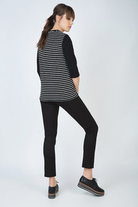 Striped Top with 3/4 Sleeves