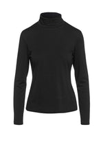 Load image into Gallery viewer, Long Sleeve Polo Neck Jumper black