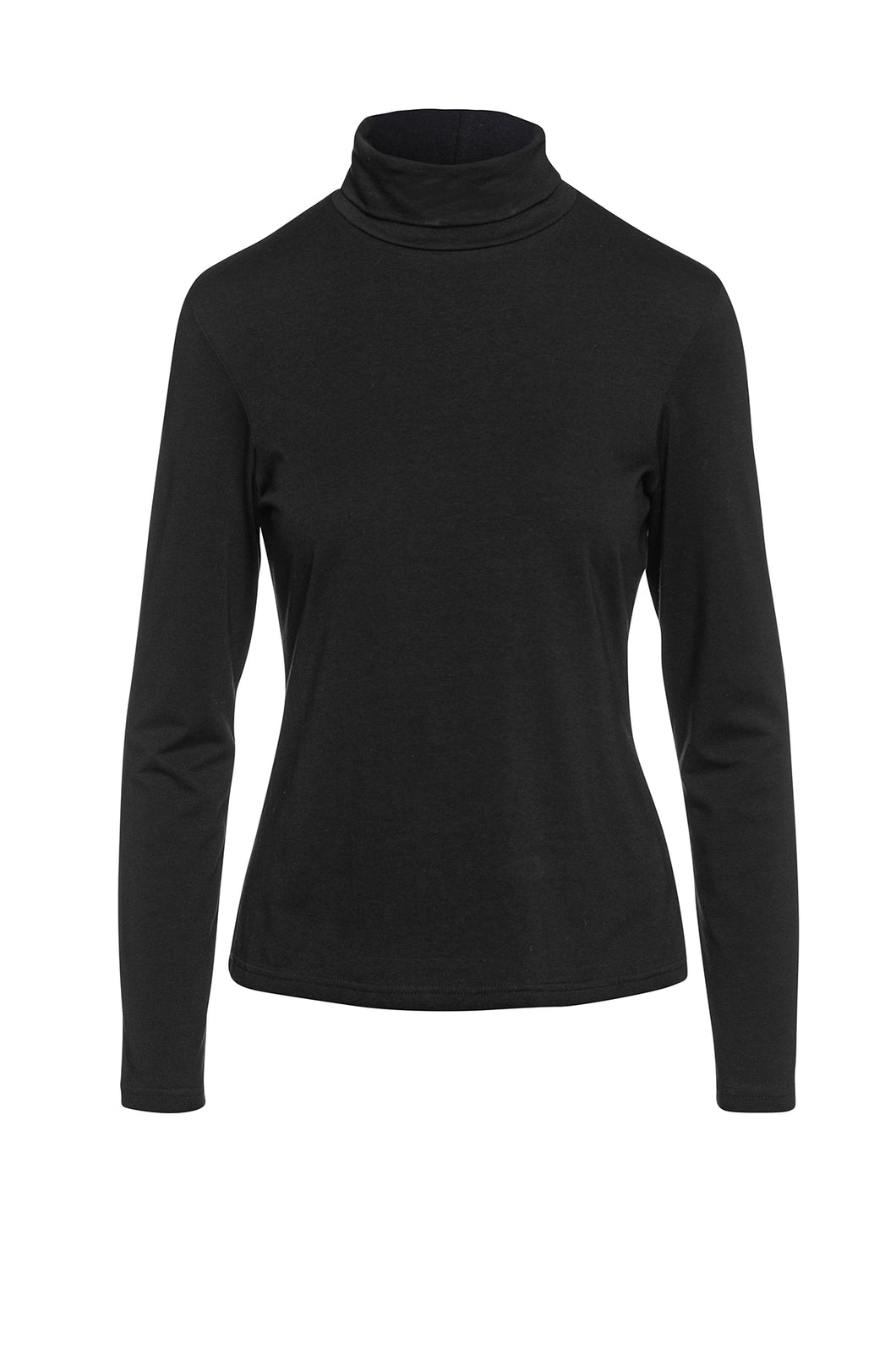 Long Sleeve Polo Neck Jumper black