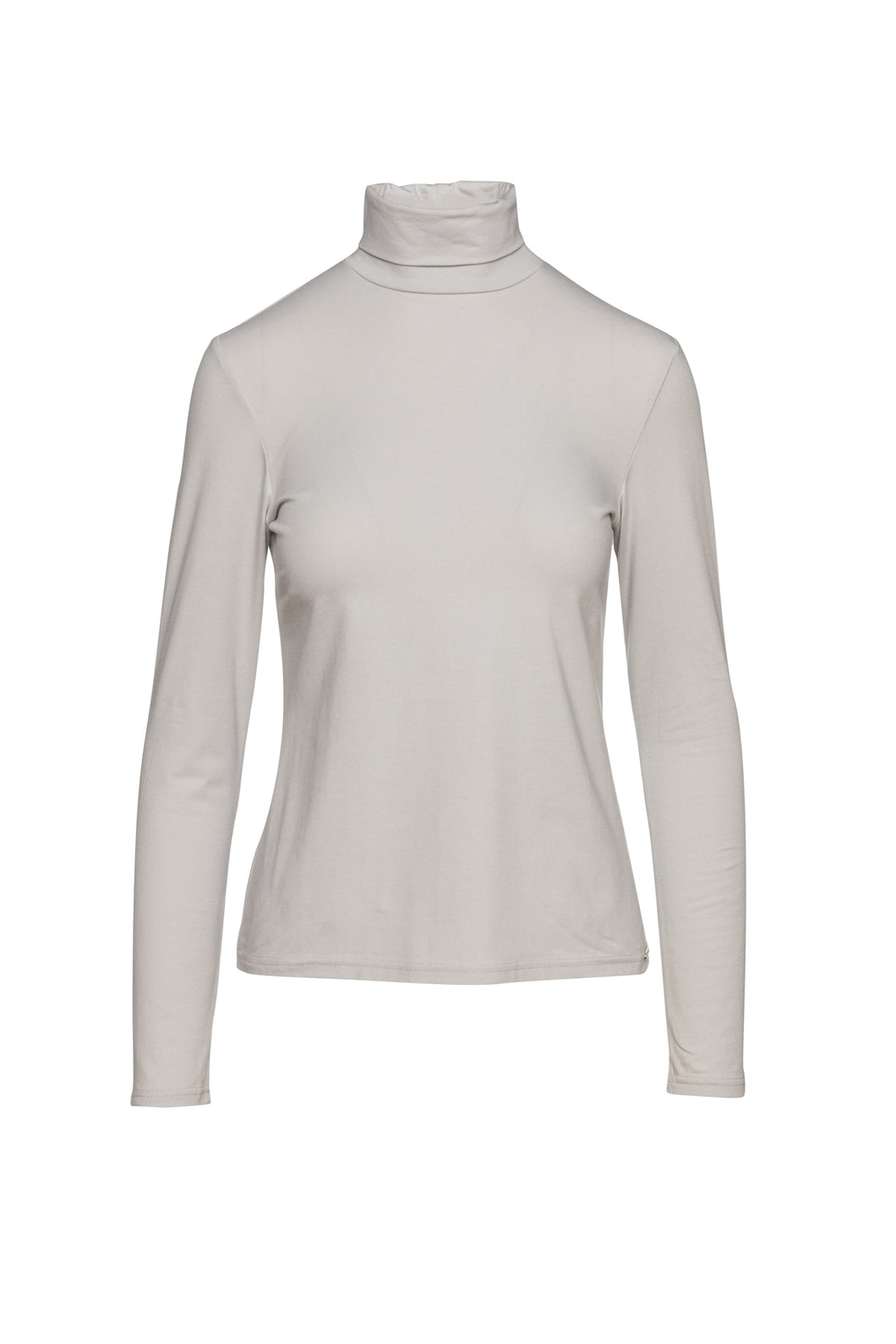 Grey Long Sleeve Polo Neck Jumper