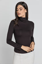 Load image into Gallery viewer, Dark Brown Turtle Neck Top By Conquista