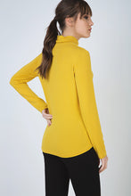 Load image into Gallery viewer, Yellow Long Sleeve Polo Neck Jumper