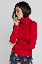 Load image into Gallery viewer, Red Turtle Neck Top By Conquista
