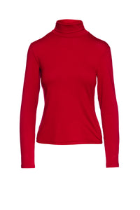 Red Turtle Neck Top By Conquista
