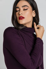 Load image into Gallery viewer, Purple Turtle Neck Top By Conquista