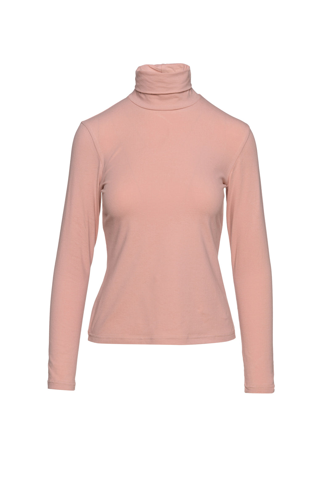 Salmon Turtle Neck Top By Conquista in Sustainable Fabric