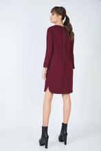 Load image into Gallery viewer, Long Sleeve Sack Dress in Punto di Roma Fabric