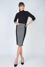 Load image into Gallery viewer, Striped Stretch Pencil Skirt