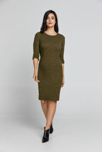 Load image into Gallery viewer, Khaki Jacquard Dress By Conquista Fashion