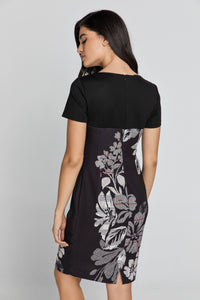 Black Floral Dress by Conquista