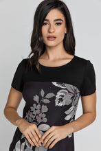 Load image into Gallery viewer, Black Floral Dress by Conquista