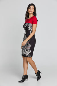 Red Floral Dress by Conquista